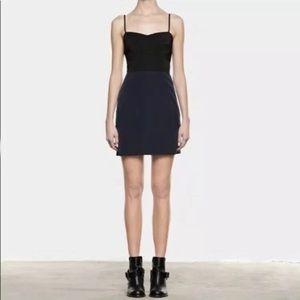 ALLSAINTS Color Block Burgundy Dress